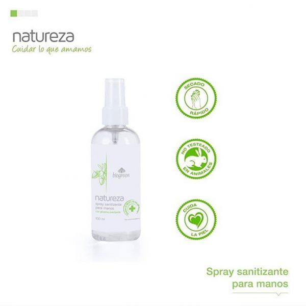 Spray Sanitizante para Manos x 100ml - BIOGREEN