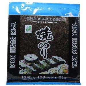 Algas nori para sushi x 10