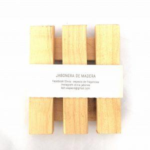 Jabonera madera simple Olivia