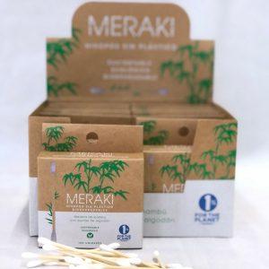 Hisopos de Bambú Biodegradables - Meraki